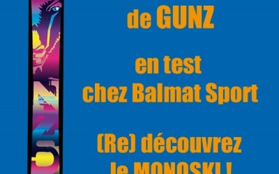 Monoski GUNZ Snowgun en test aux Houches